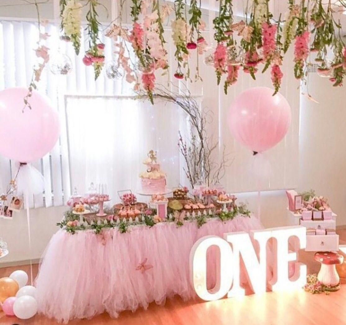 Baby girls 1st birthday Birthday parties, Fairy birthday