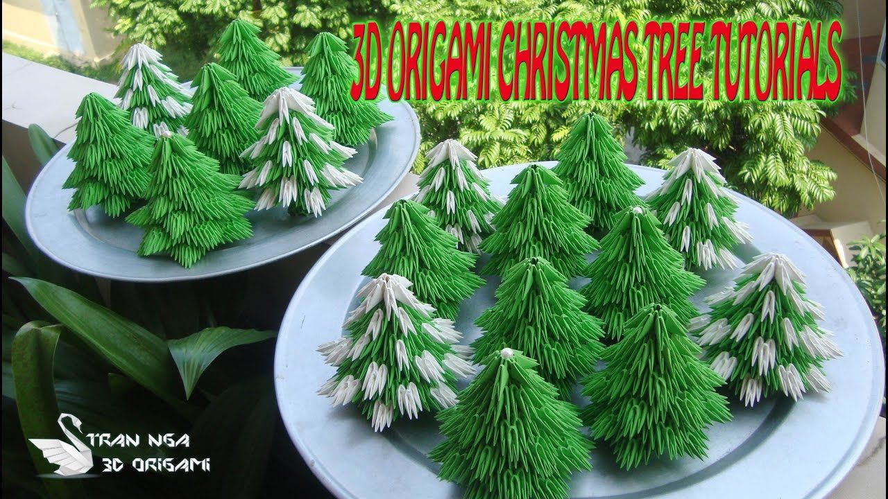 Easy Origami Christmas Tree DIY - Red Ted Art - Make crafting with ... | 720x1280