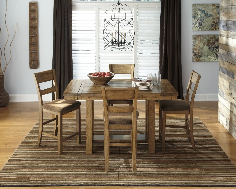 Ashley D653 Krinden 5pc Gathering Table Set Dining Room Table Set Counter Height Dining Room Tables Casual Dining Room Set
