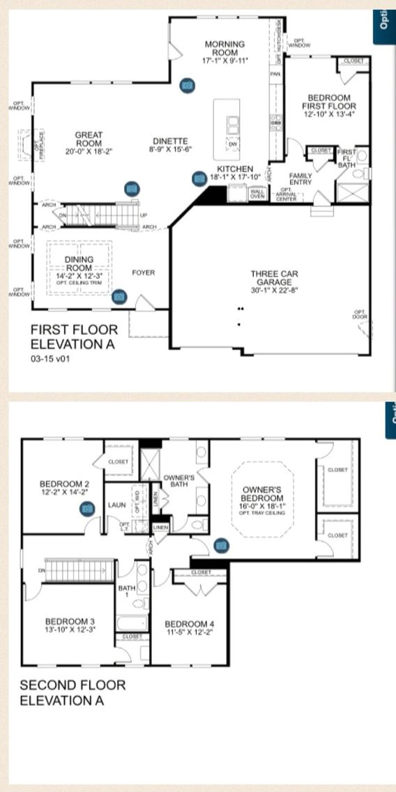 Ryan Homes Rome Floor Plans