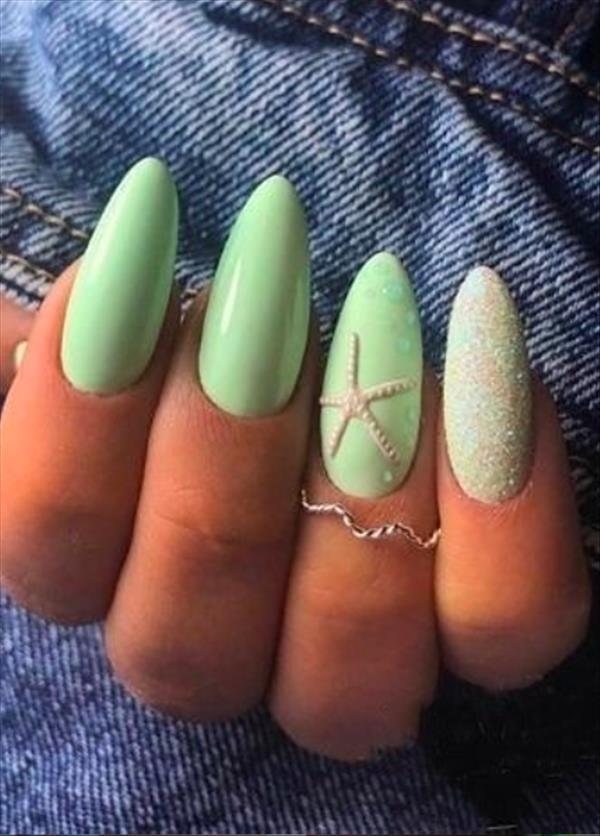 54 Simple Spring Nail Designs for Short Nails and Long Nails - The First-Hand Fashion News for Females