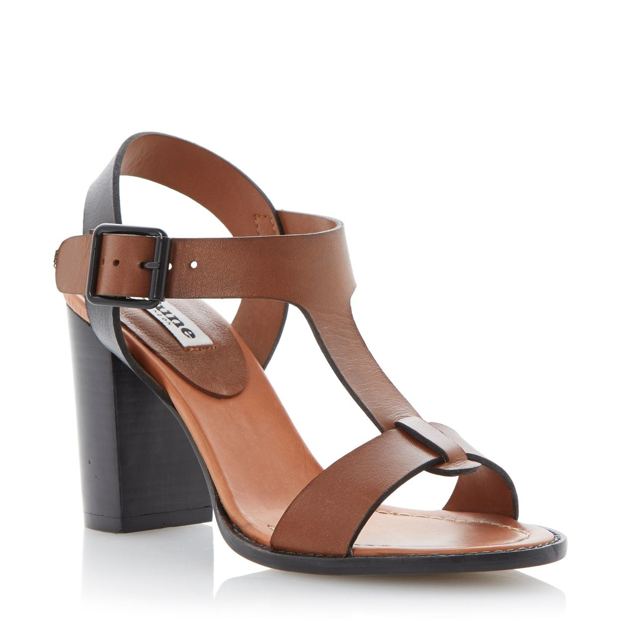Women's sandals debenhams - Dune Tan High Block Heel Sandal At Debenhams Com