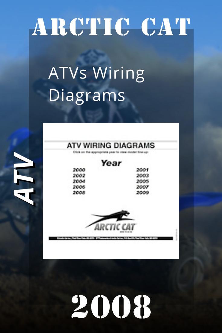 2000 2009 Arctic Cat Atvs Wiring Diagrams Arctic Atv Repair Manuals