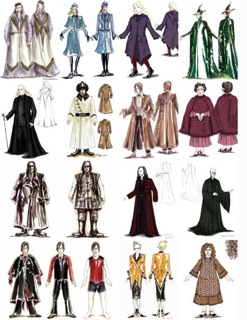 Character Costume Design Tips : Costume designs for harry potter
