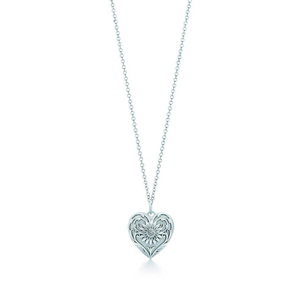 6ece145ad Ziegfeld Collection daisy locket in sterling silver on a chain, medium. |  Tiffany & Co.