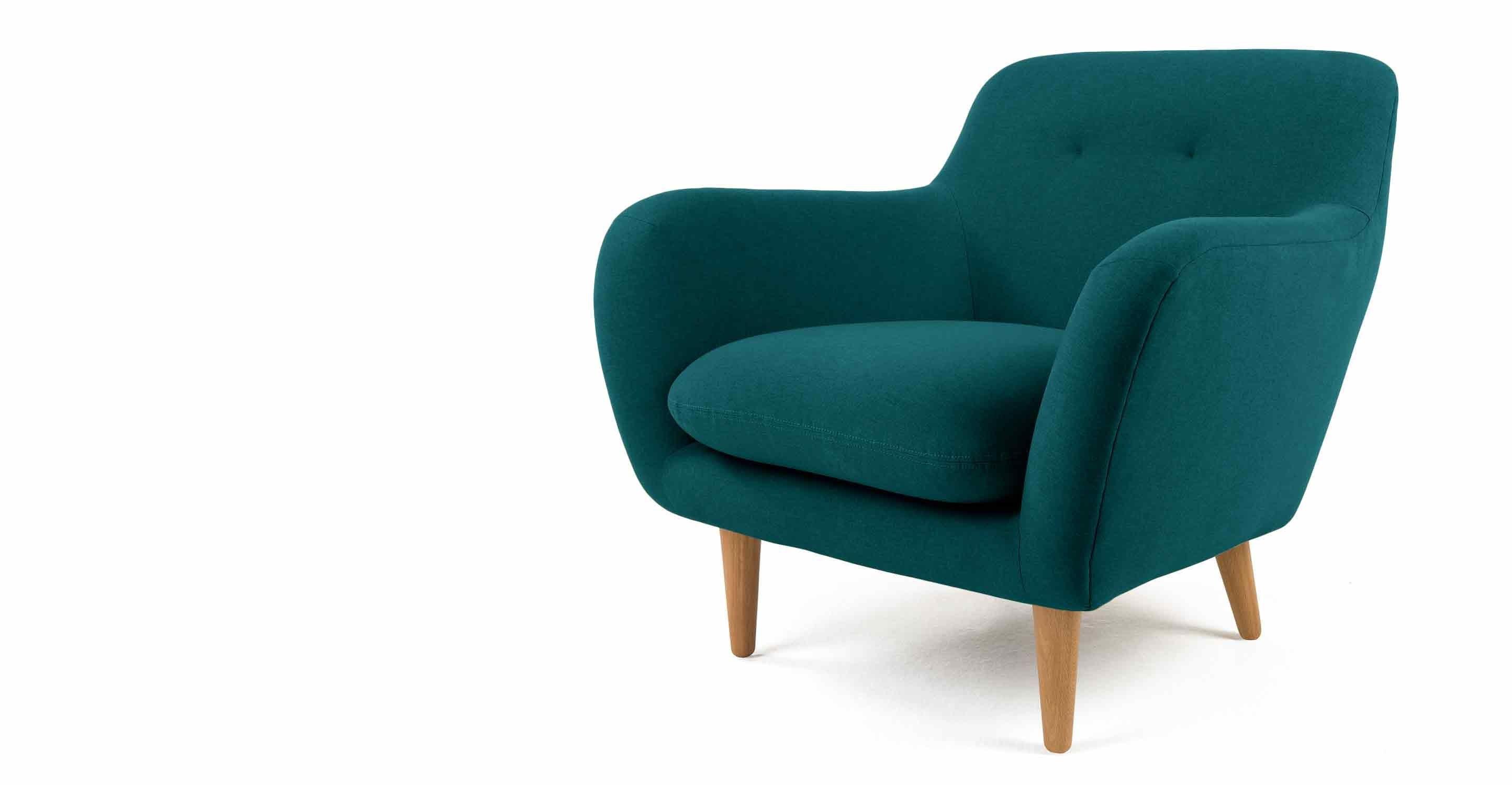 Dylan fauteuil bleu minéral