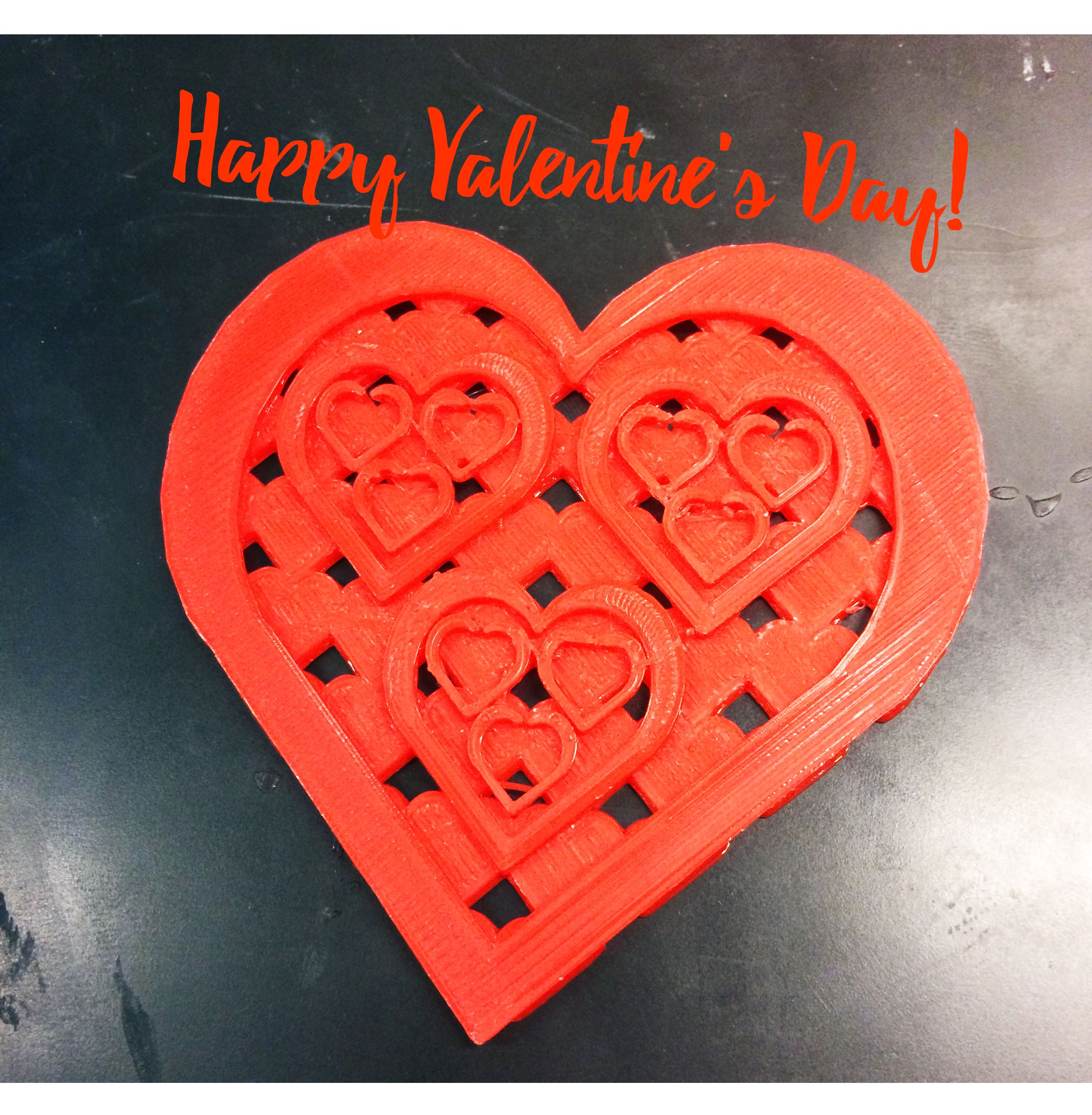 Happy Valentine S Day From All Of Us At Tactile Picture Books Project Lab Pictured 3d Printed Heart Book Projects 3d Printed Heart Children S Picture Books