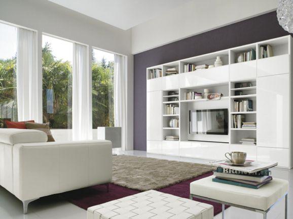 Soggiorno moderno a parete | ArredissimA Soggiorni | Pinterest ...
