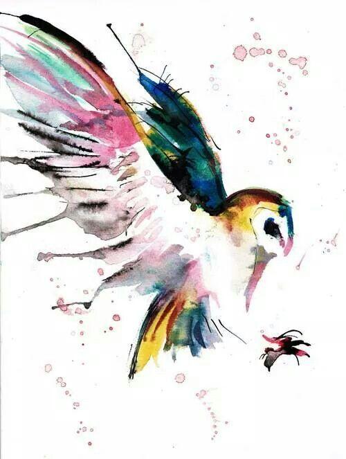 60a225490 Watercolour owl | Tattoo Ideas | Owl watercolor, Tattoos, Art
