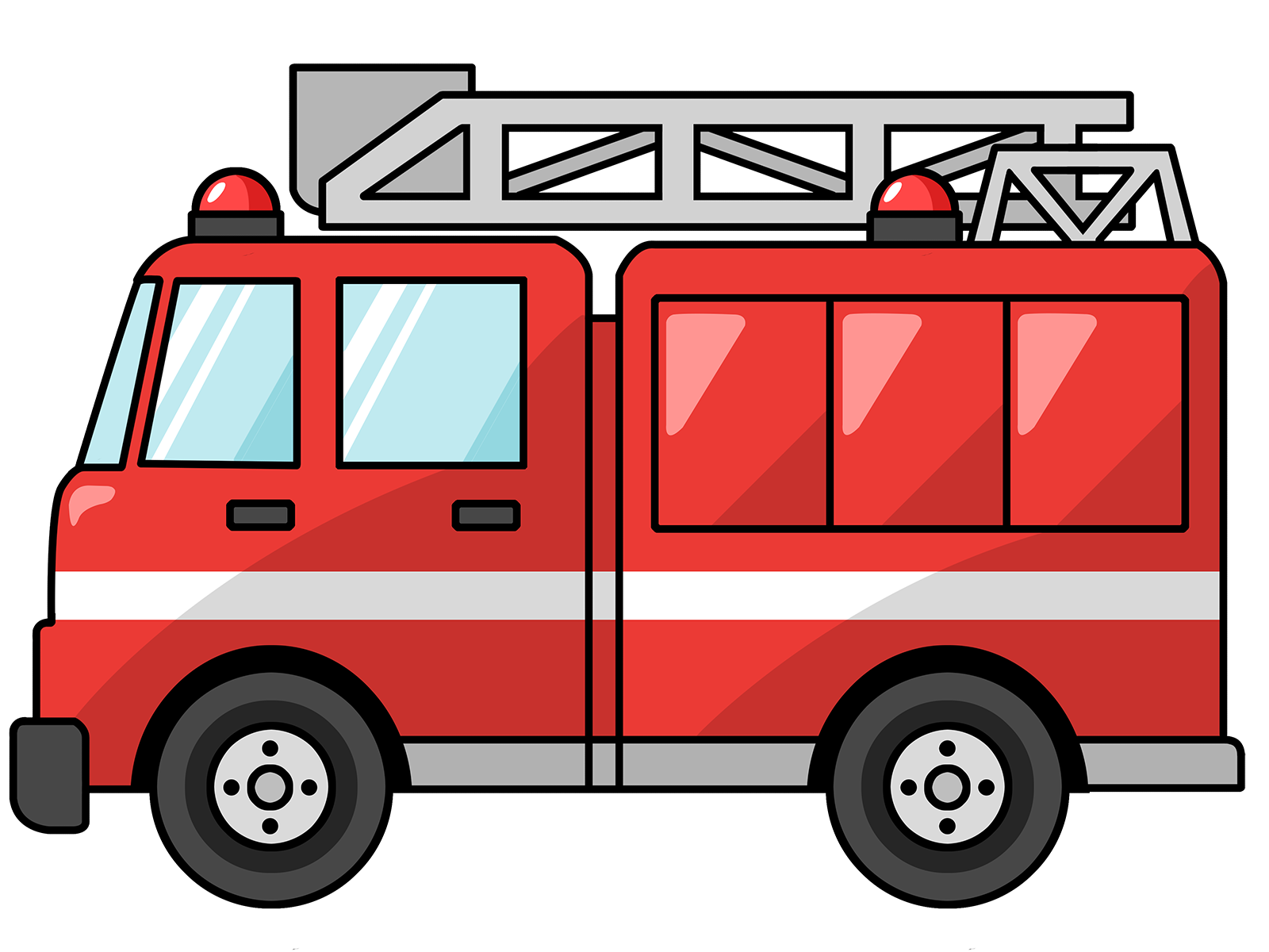 hight resolution of fire truck clipart google search