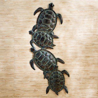 Sea turtle metal indoor outdoor wall art hayneedle
