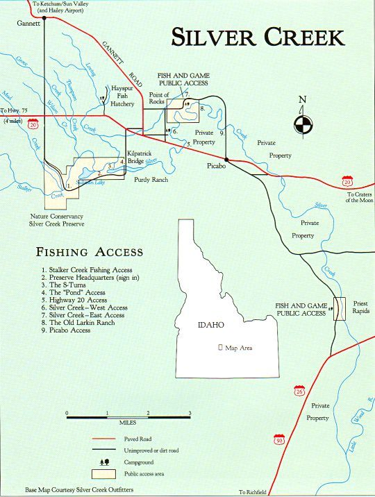 Silver Creek Map - Great Rivers - Angler's OnLine