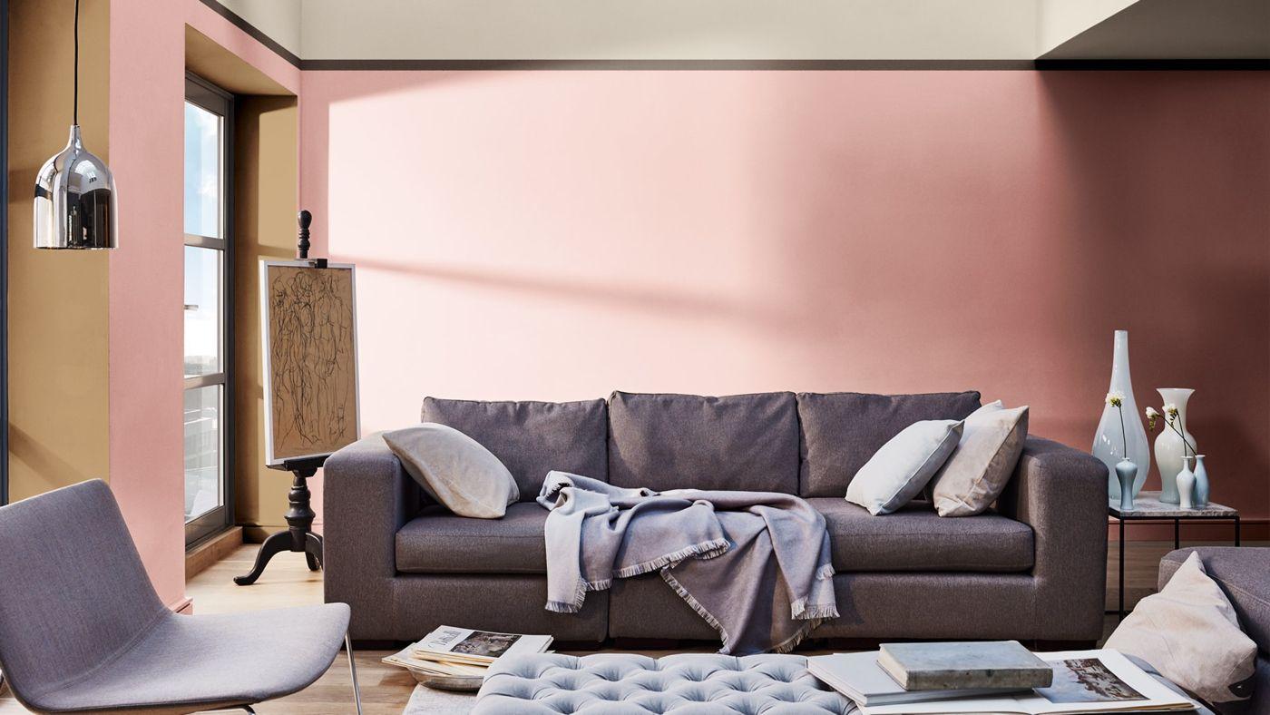warme #Wandfarben in rosa Beeren #Nuancen und #Pastellfarben wie