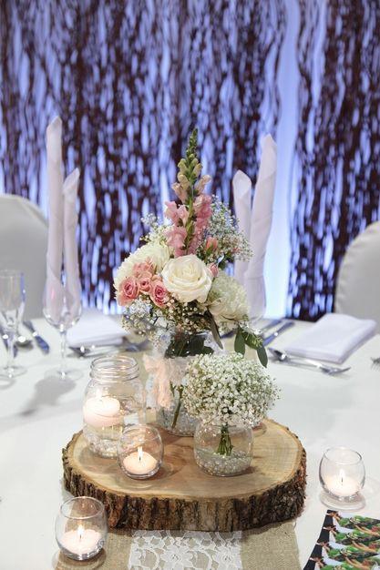 D coration mariage d coration salle location centre de table housse d - Fleurs table mariage ...