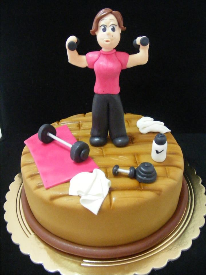 Gym cake Qualquer coisa que faco :P Pinterest Gym ...