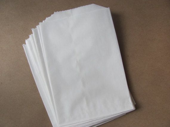 150 White Paper Bags 4 X Treat Favor Merchandise Food Crafting Flat Small Medium 6 Pound