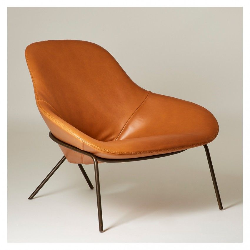 Cross Leg Lounge Chair Legacy Tan Leather Industrial Lounge British Furniture British Furniture Design
