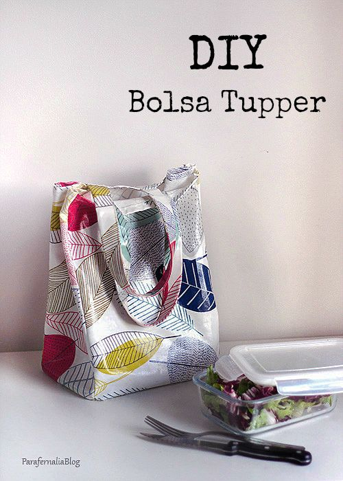 DIY: Bolsa para el tupper | bag cool | Pinterest | Sewing, Diy bags ...