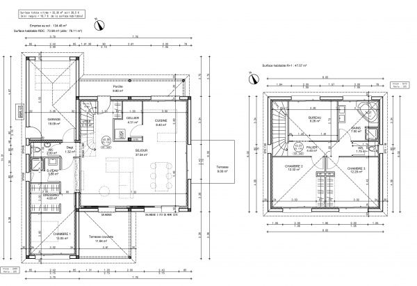 Votre avis sur le plan de ma maison 120 m2 avec étage Résolu (30