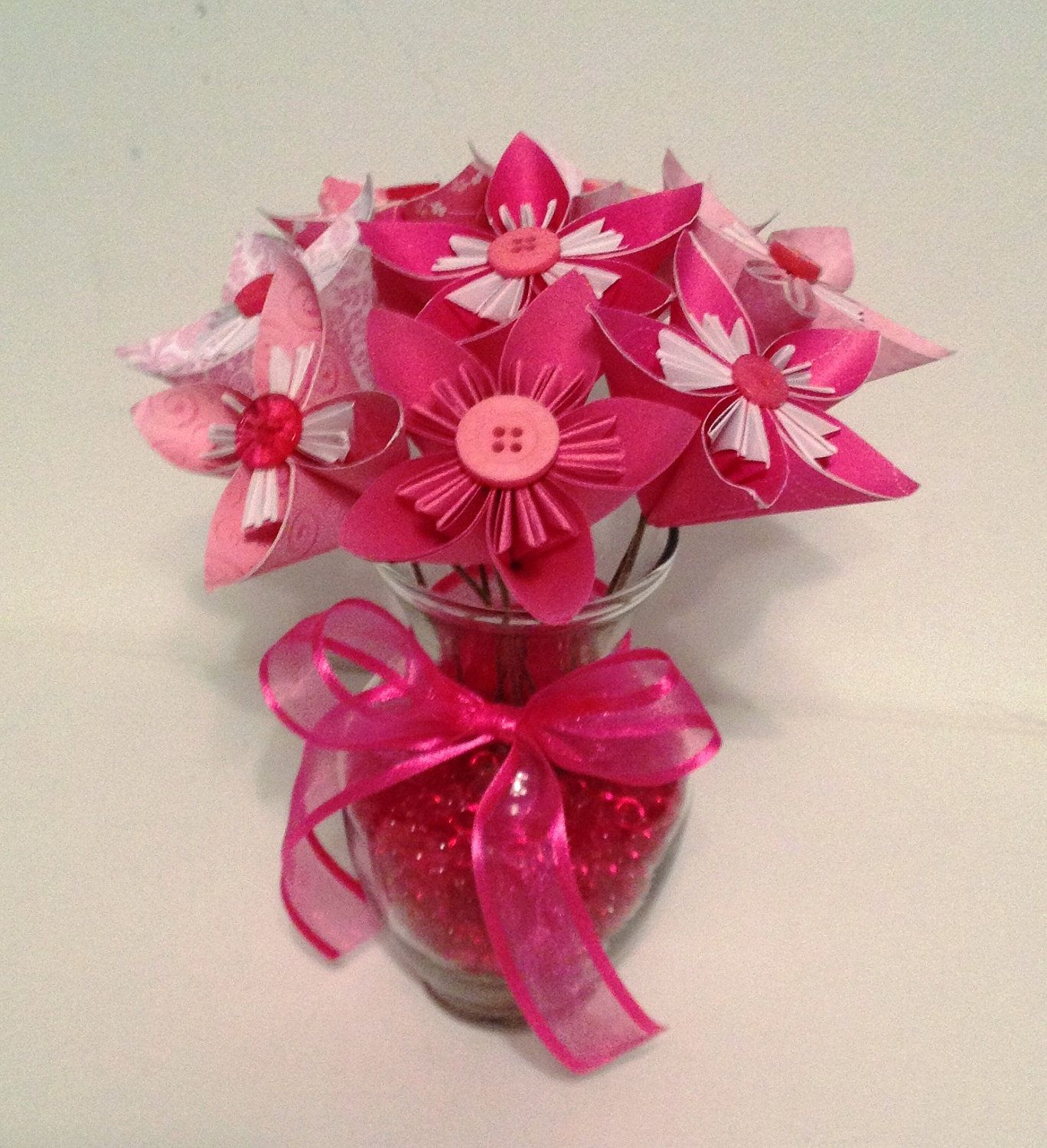 Pink Origami/Kusudama Flower Bouquet/ Flower Arrangement ...