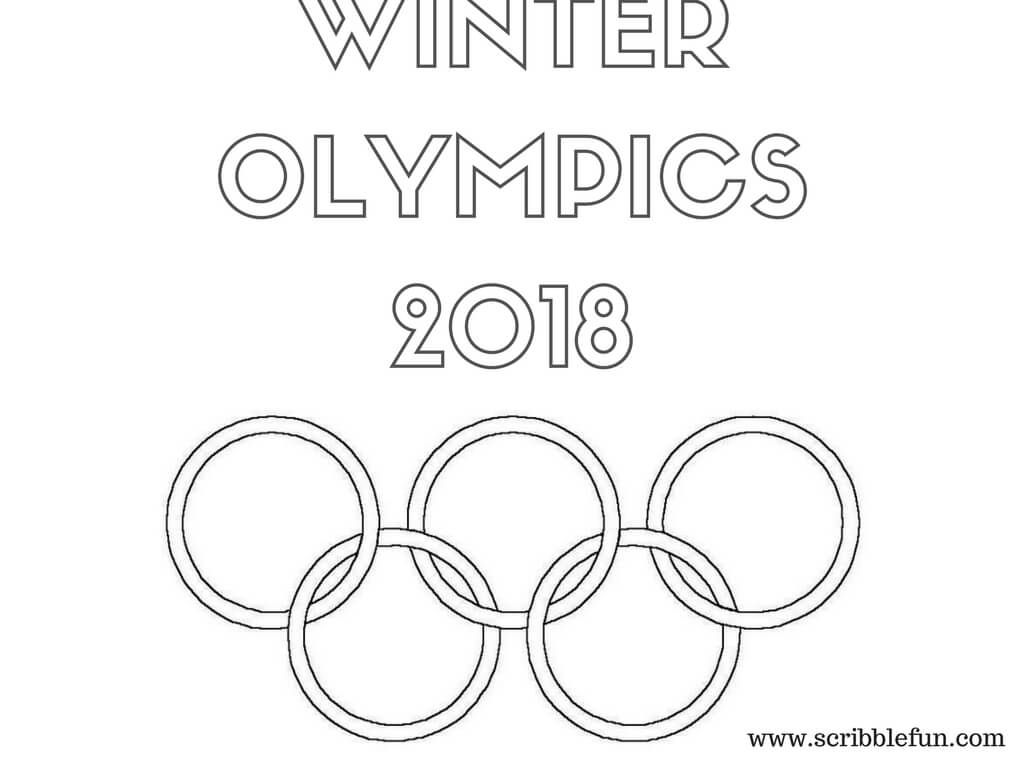 Winter Olympics 2018 Coloring Pages Olympic Colors Olympic Logo Winter Olympics