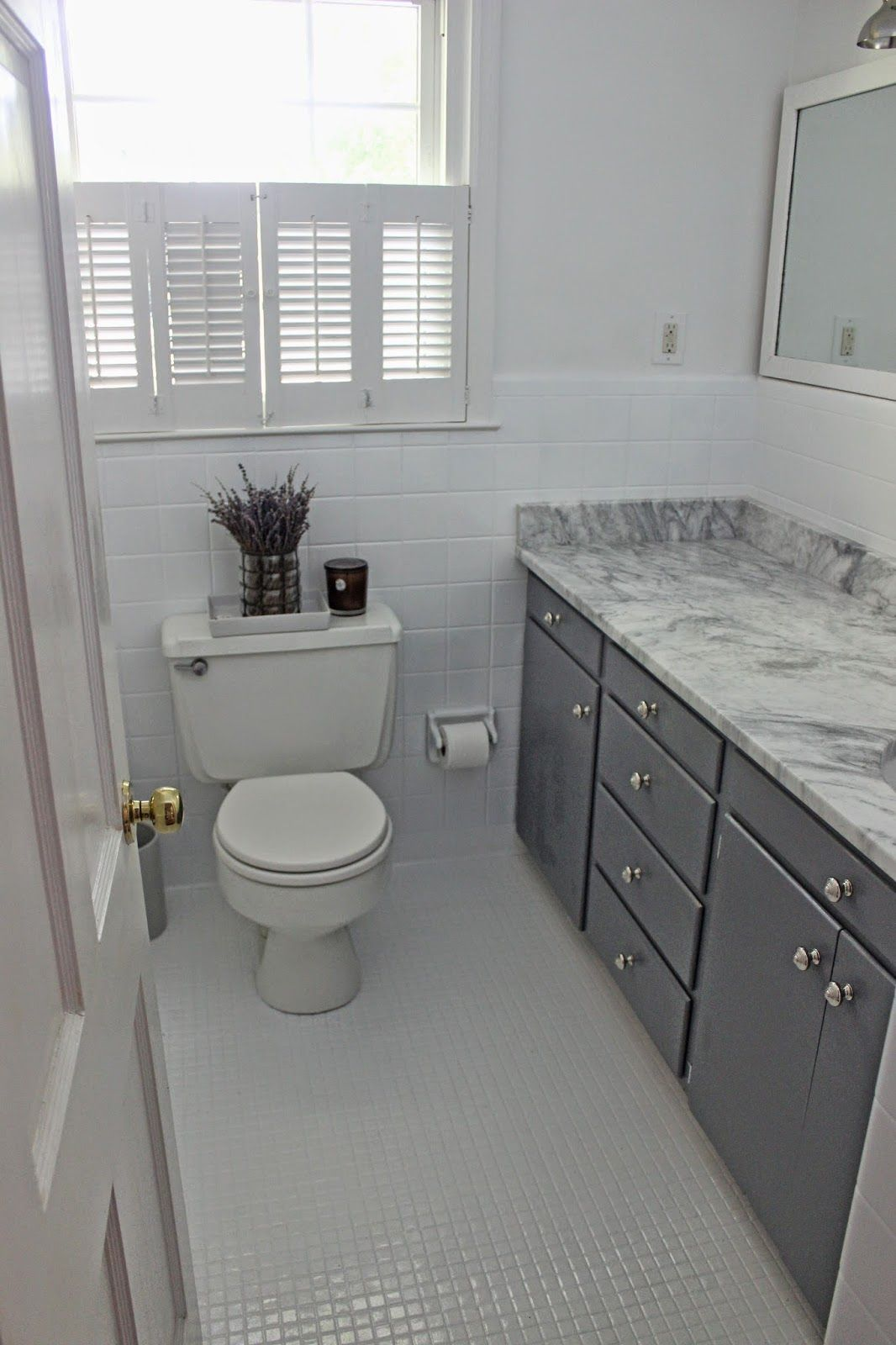 The Long And Short Of It Budget Bathroom Makeover Small Bathroom Makeover Master Bathroom Makeover Budget Bathroom