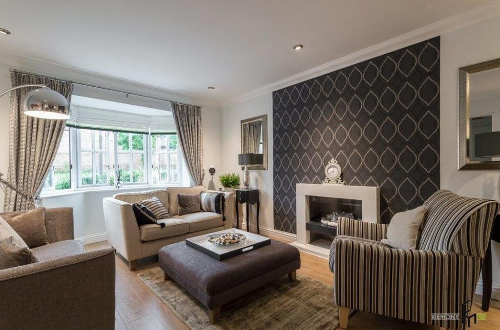 An Inspiring Black Patterned Sectional Wallpaper Idea For New Living Room Wallpaper Design Ideas Design Decoration
