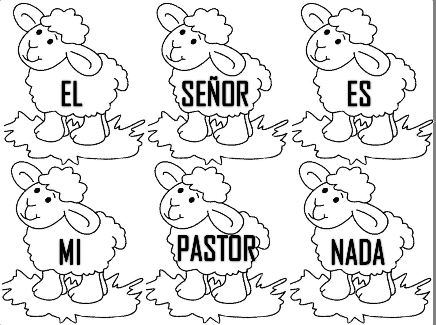 Los Ninos Y La Biblia Salmo 23 1 Texto Biblico Para Ninos
