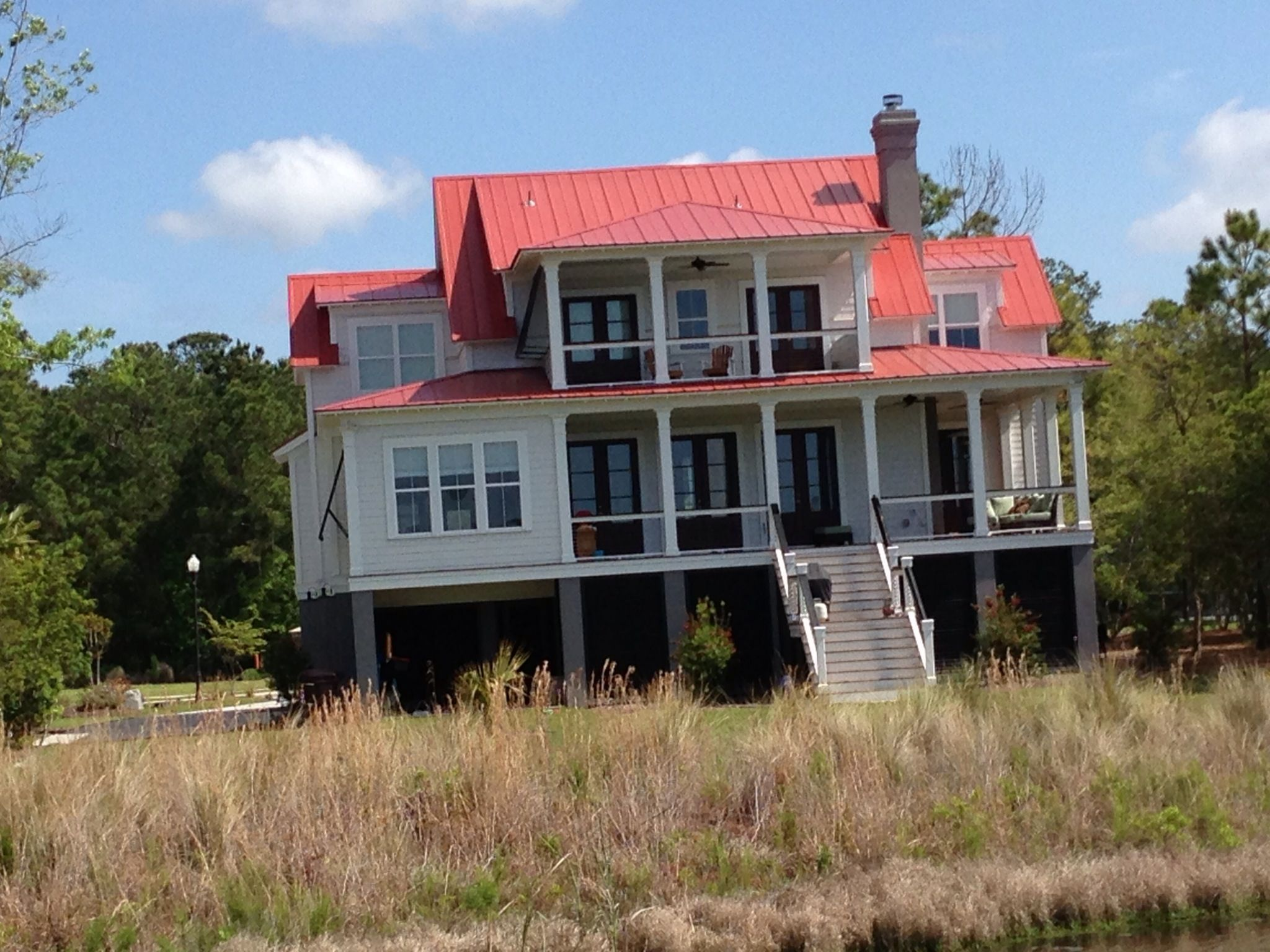 Drexel Metals Country Red 5V Crimp Metal Roof   Charleston, SC