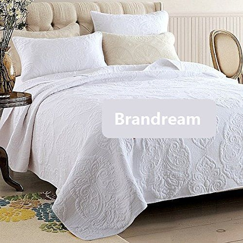 Brandream White Beige Vintage Floral Comforter Set Queen Size Bed Quilt Set Brandream http://www.amazon.com/dp/B00WU105XE/ref=cm_sw_r_pi_dp_yCAfxb1VVWBCW