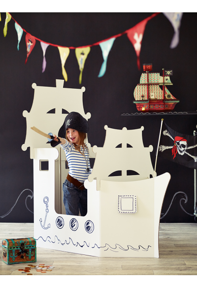 Giant Cardboard Pirate Ship NEW - Kids - NEW