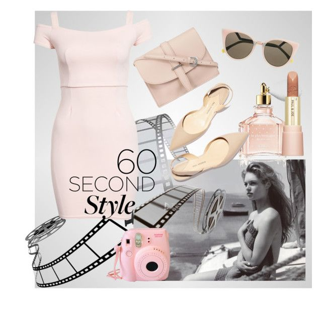 """""""French Pink"""" by alice-through-the-looking-glass ❤ liked on Polyvore featuring New Look, M.N.G, Fendi, Guerlain, Paul & Joe Beaute and Paul Andrew"""