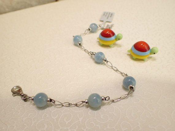 Aquamarine Bracelet by amazingstone on Etsy