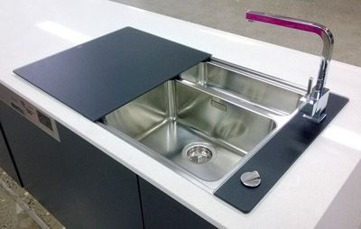 Attractive Kitchen Sink With Glass Cover   Google Search