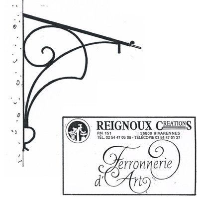 marquise fer forg art nouveau ma83 reignoux cr ations. Black Bedroom Furniture Sets. Home Design Ideas
