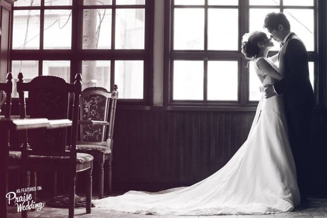 Love is timeless -  classic black & white wedding photo