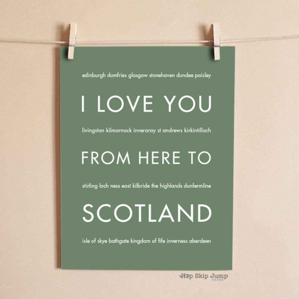 SCOTLAND Art Print Travel Art Print