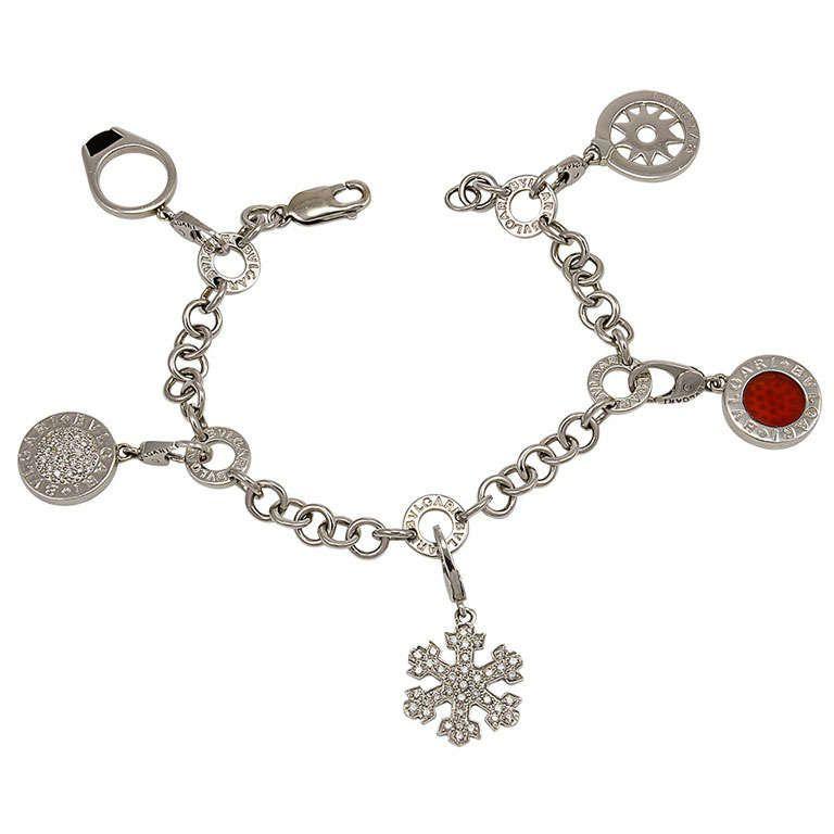 c0e1ecd59 BULGARI Gold Charm Bracelet | From a unique collection of vintage charm  bracelets at http: