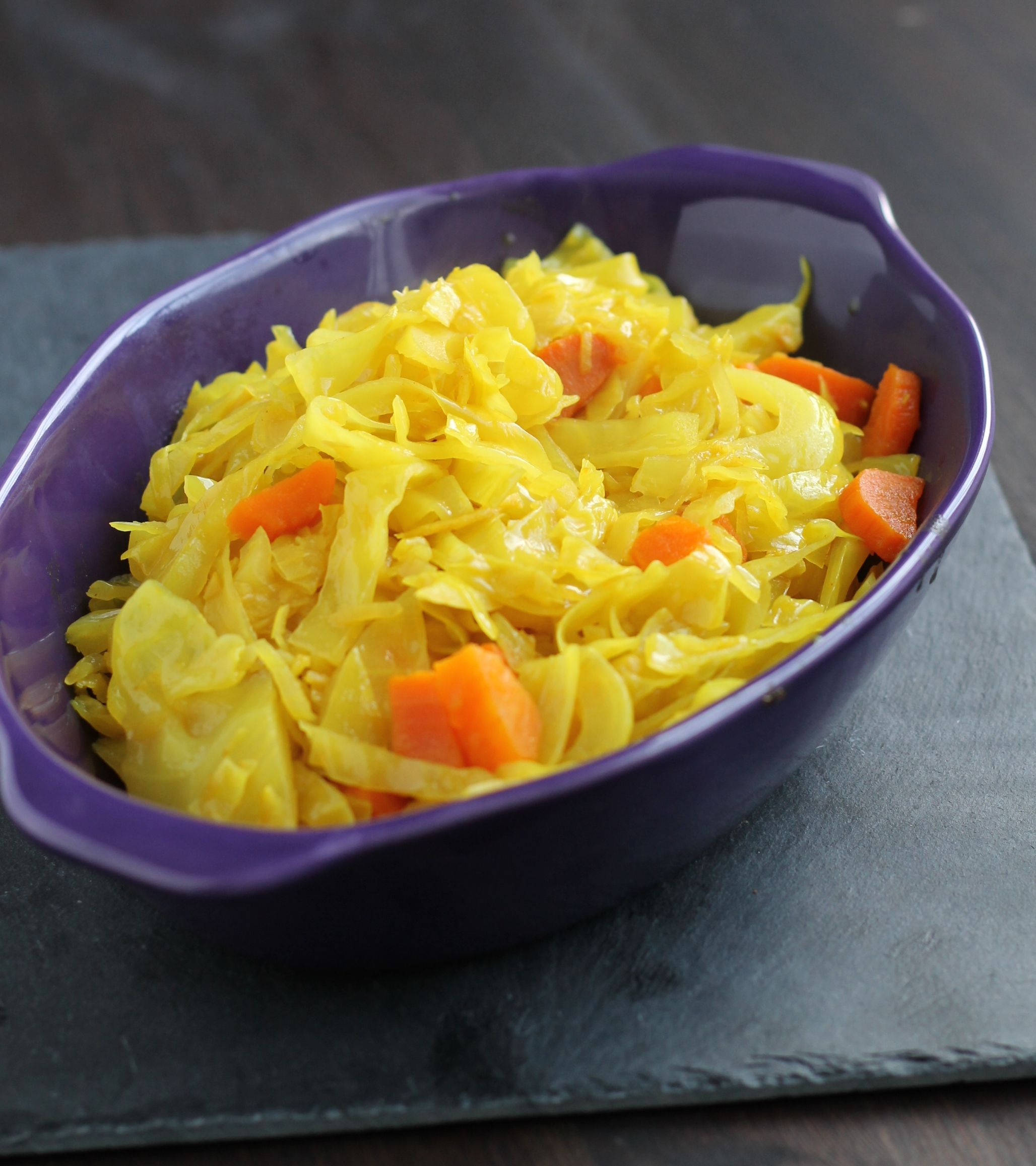 spiced cabbage and carrots