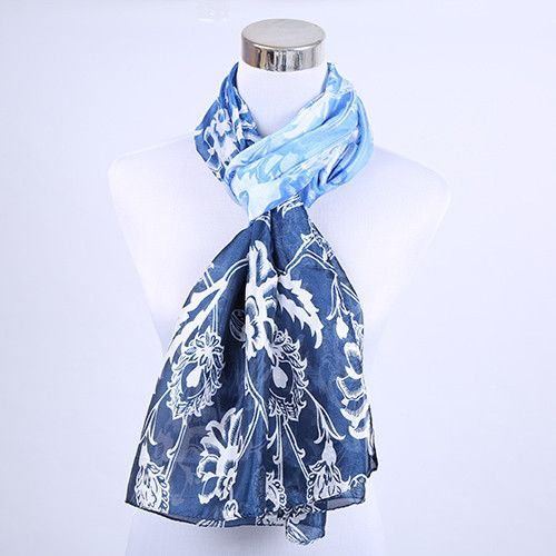 mitated Silk Satin Scarf