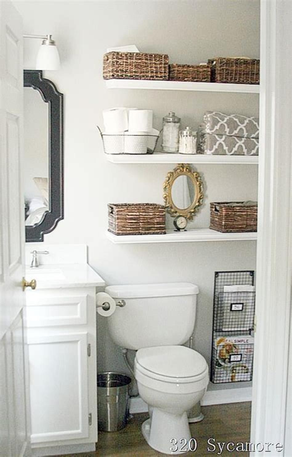 41 Adorable Bathroom Organizers For Small Bathrooms Decorequired Bathroom Cabinets Over Toilet Diy Bathroom Design Bathroom Organization Diy