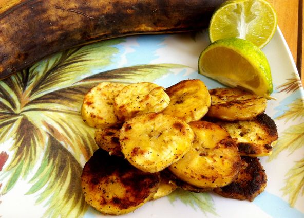 Pan-fried plantains -- a salty-sweet taste of the tropics.