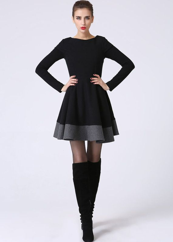 kleine schwarze kleid lbd kurze rmel kleid schwarz von xiaolizi clothes pinterest. Black Bedroom Furniture Sets. Home Design Ideas