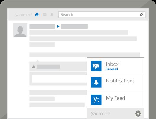 Desktop Notifier Yammer Desktop App Microsoft office