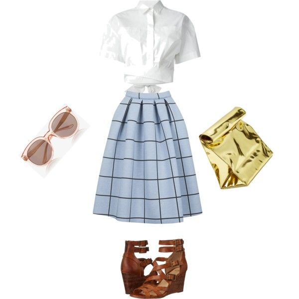 Summer school by marimonda on Polyvore featuring polyvore, moda, style, MSGM, Topshop, Frye, Yesimfrench and Express