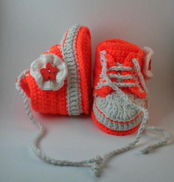 78050b69878 Orange baby boots