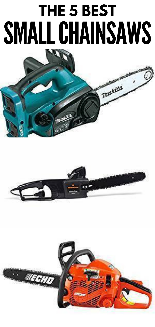 A chainsaw is a handy tool to have at home for cutting off dead branches or chopping firewood. From battery-operated chainsaws to electric-powered ones, check out our tool review on the 5 best small chainsaws. #thesawguy #powertools #chainsaw #smallchainsaw #DIYtools #DIYhome #sawtools