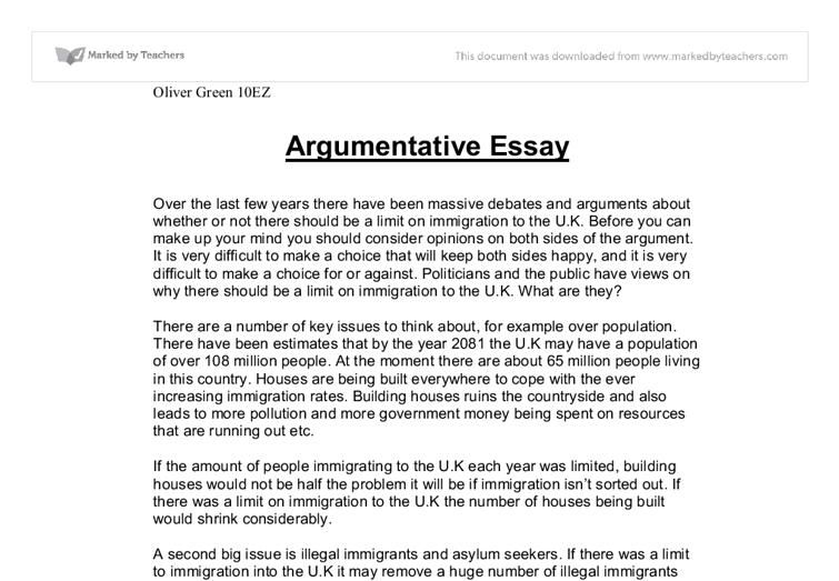 0011 Of An Argumentive Essay Opinion of professionals Essay