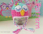 CROCHET OWL HAT Pattern By Kerry Jayne Designs