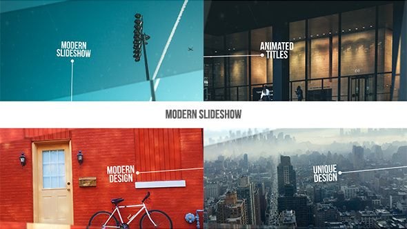 modern slideshow • after effects template • see it in action, Presentation templates